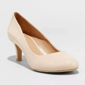 CALL IT SPRING Nude Patent Heels